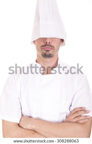 Chef making crazy gesture - stock photo