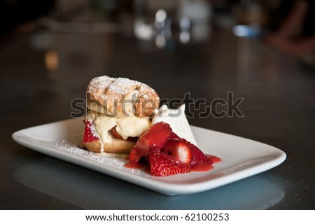 Chef prepared dishes, American cousin.  Photographed on location. - stock photo