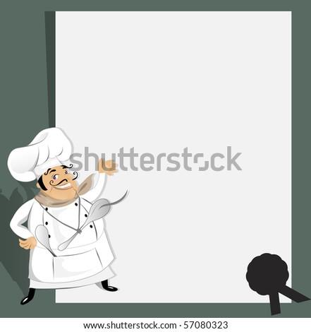Chef with recipe (jpeg version) - stock photo