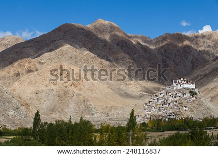 Chemdey gompa, Buddhist monastery in Ladakh, Jammu & Kashmir, India - stock photo