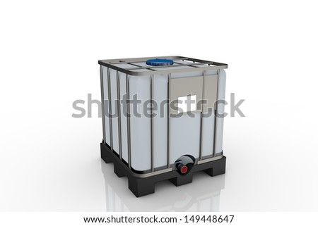 Chemical container - stock photo