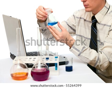 chemical experiences - stock photo