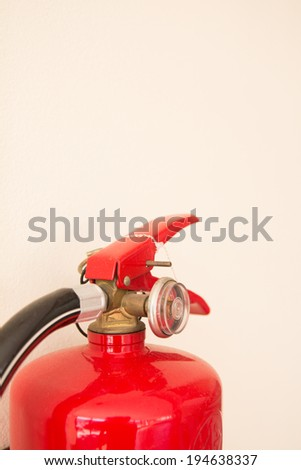 Chemical fire extinguisher with clipping path - stock photo