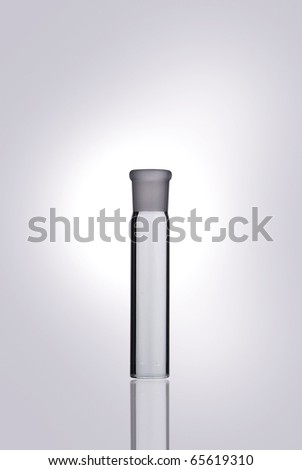 Chemical flasks over white background - stock photo