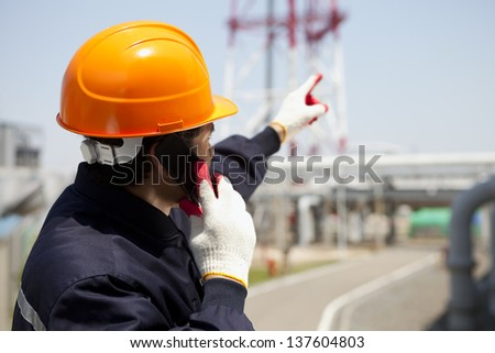 Chemical industrial engineer - stock photo
