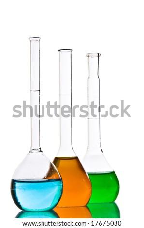 Chemical laboratory glassware equipment - stock photo