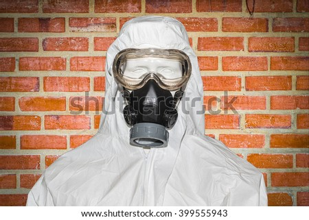 Chemical masks - stock photo