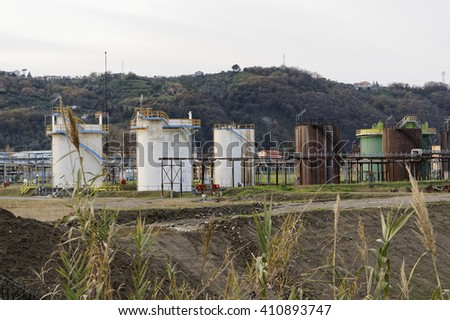 chemical plant in north europe - stock photo