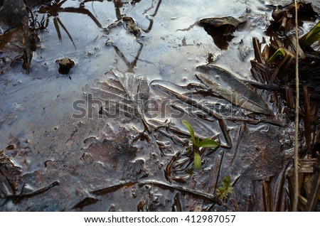 chemicals polluted water - stock photo
