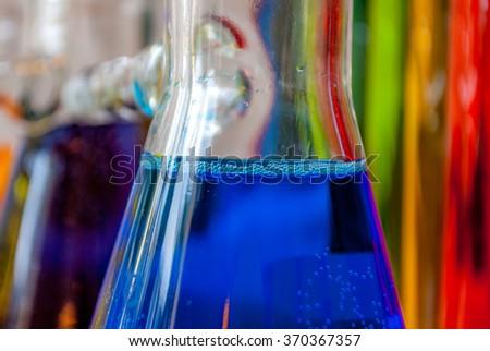 Chemistry blue feeling - stock photo