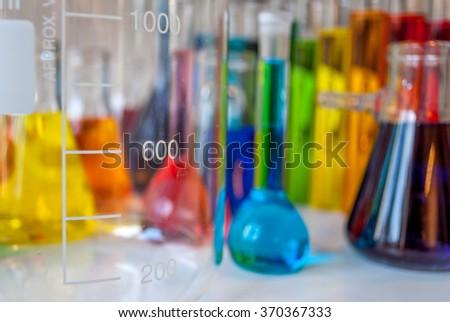 Chemistry graduations - stock photo