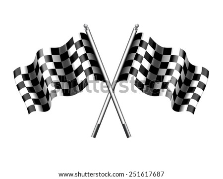 Chequered Checkered Flag - Raster Version - stock photo
