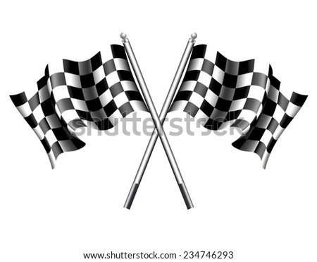 Chequered Flags Motor Racing - Raster Version - stock photo