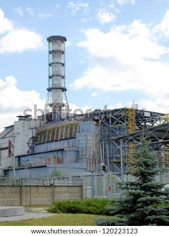 Chernobyl power-plant, block 4 - stock photo