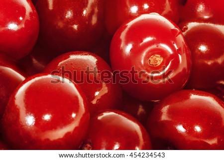 Cherries.  Close-up view. - stock photo