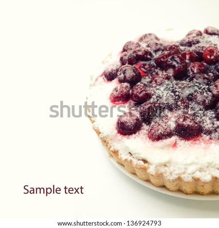 cherry cake - stock photo