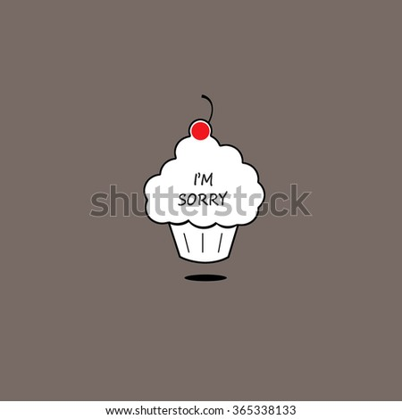 Cherry Cupcake - I'm Sorry - stock photo