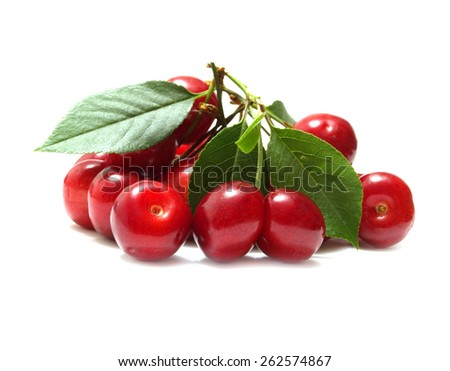 Cherry fruit - stock photo