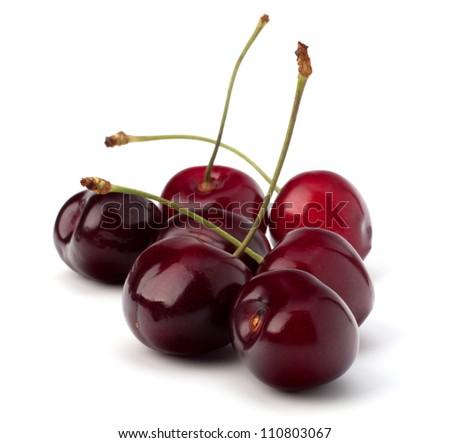 Cherry isolated on white background - stock photo