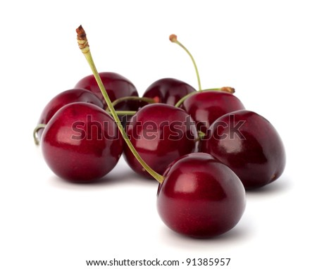 Cherry isolated on white background - stock photo