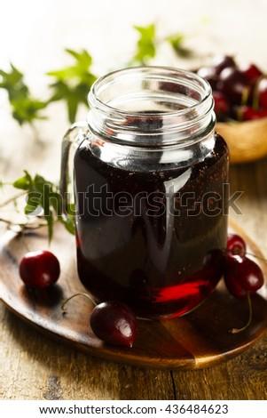 Cherry juice - stock photo