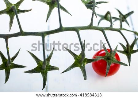 Cherry tomatoes isolated  - stock photo