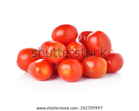 cherry tomatoes isolated on white background. - stock photo