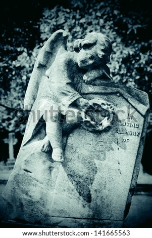 Cherub memory - stock photo