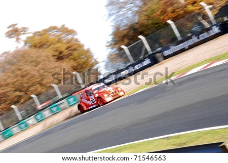 CHESHIRE, ENGLAND - NOVEMBER 12 : Funcup Beetle on November 12, 2008 in Cheshire, England, UK. Oulton Park is a Race Track host to Many Automotive Events and Track Test Days - stock photo