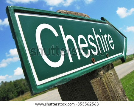 Cheshire road sign - stock photo