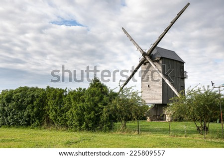 Chesnay Windmill near Chartres in France - stock photo