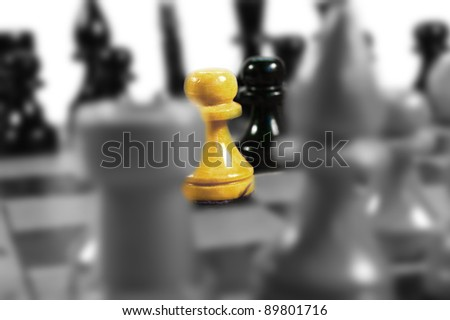 Chess. - stock photo