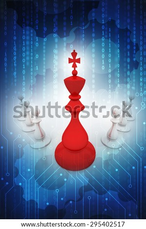 Chess background - stock photo