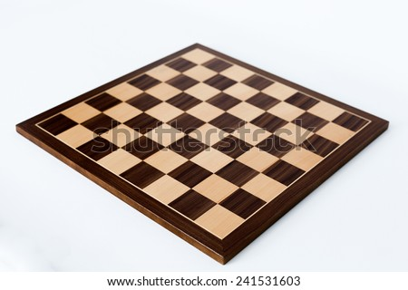 Chess board on white background - stock photo