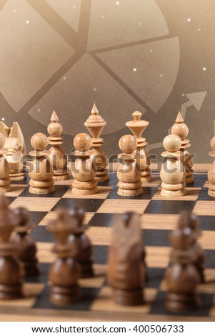 chess board planning business concept - stock photo