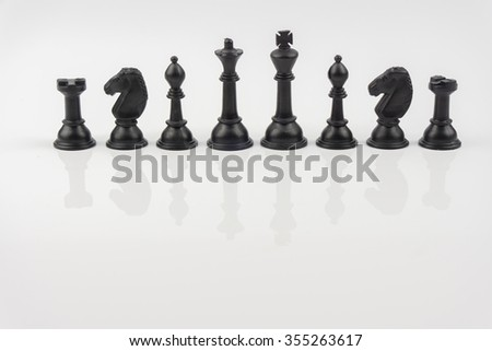 Chess, Chess Piece, Chess Pawn over white background - stock photo