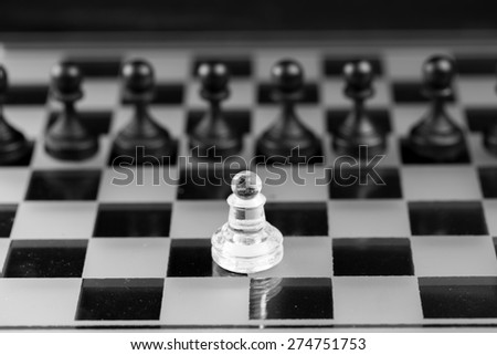 Chess figure, business concept strategy, leadership, team and su - stock photo