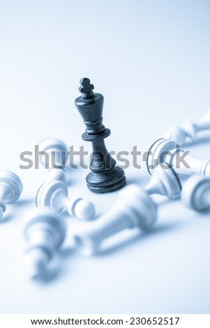 Chess figure, business concept strategy, leadership, team and success - stock photo