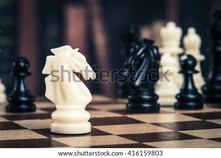 Chess image - stock photo