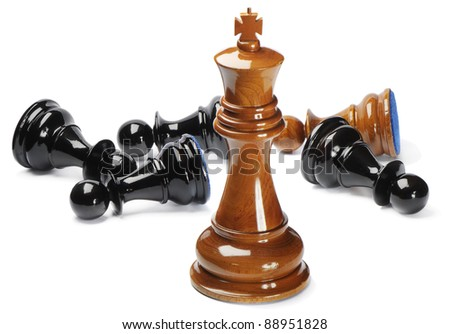 Chess isolated on white background - stock photo