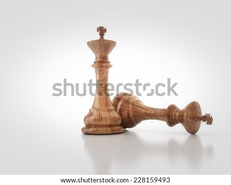 Chess king - Business conceptual strategy concept - stock photo