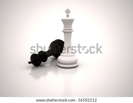 Chess king standing - Business concept success - stock photo