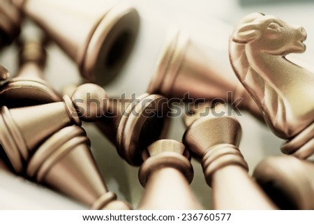 Chess. Macro image with small depth of field. - stock photo