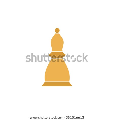 Chess officer. Colorful pictogram symbol on white background. Simple icon - stock photo