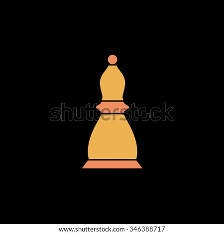 Chess officer. Colorful symbol on black background - stock photo