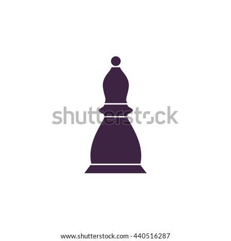 Chess officer. Simple blue icon on white background - stock photo