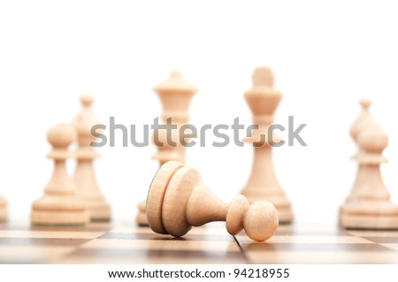 chess pawn isolated on a white background - stock photo