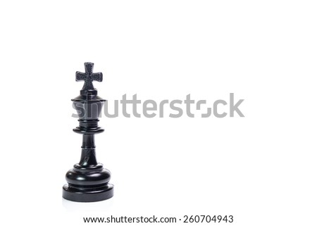 chess piece isolated on white background - stock photo