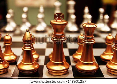 Chess pieces.  - stock photo