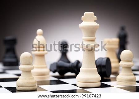 Chess pieces - stock photo
